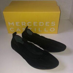NEW Mercedes Castillo Black Carola Ballet Flat